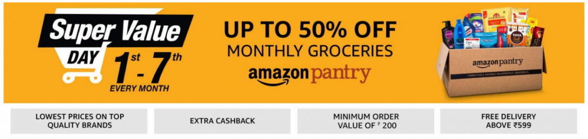 Save up to 50% on Groceries with Amazon Super Value Day Offer